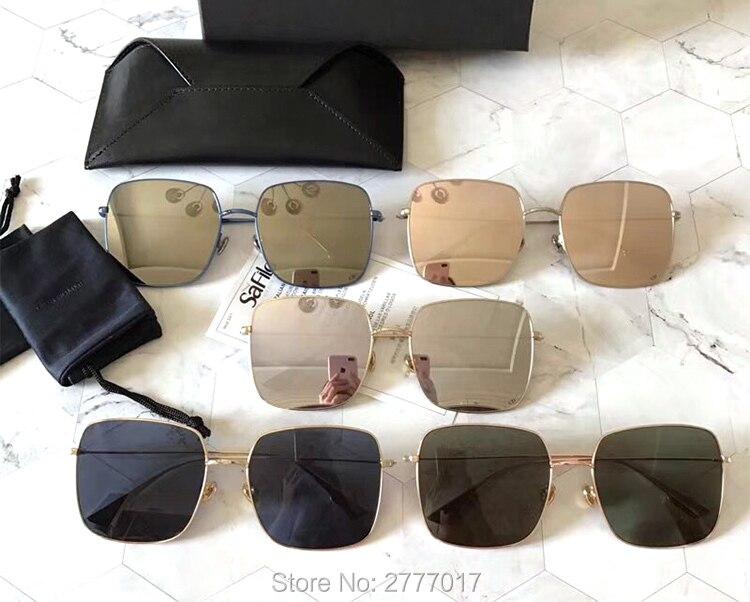 Vintage Sunglasses Women men metal Big Square Frame Sun Glasses Fashion Luxury Brand Designer Eyewear UV400
