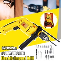 220V Electric Impact Drill 1880W Brushless Motor Cordless Electrical Impact Wrench Cordless Drill Power Tools