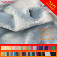 Zyfmptex nova chegada 5mm pilha 150x50 cm/80 cm/100 cm tela de pelúcia minky para diy costura patchwork100 % poliéster telas tecido de veludo