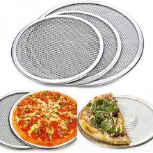 New 6inch-14inch Seamless Aluminum Pizza Screen Baking Tray Metal Net Bakeware Kitchen Tools Pizza Acessorios