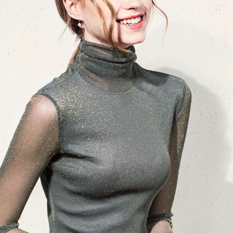 Trustful New 2019 Spring Summer Bright Silk Chiffon Blouse Long Sleeve Stand Neck Work Wear Shirts Elegant Lady Office Tops Female Pj359 Women's Clothing
