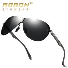 AORON Sunglasses Men Polarized Vintage Rimless Sport UV400 Retro Sun Glasses For Women Mirror Eyewear Classic Luxury Brand