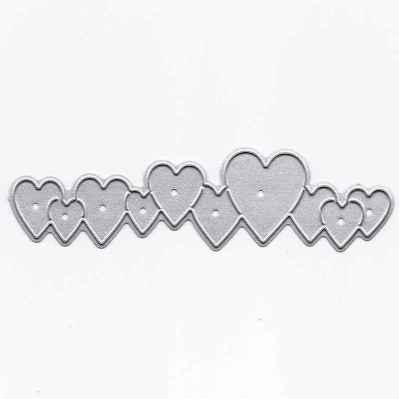 طويل الحب القلب سلسلة DIY بها بنفسك سكين قالب تنقش الكربون الصلب سكين قالب قطع يموت
