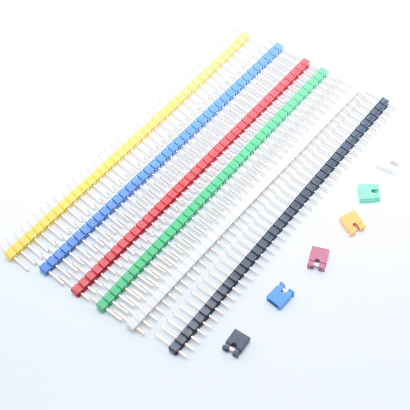 20Pcs 40 Pin Single Row Male Headers Connector 2.54mm Strip Breakable Pin Header