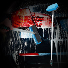 Original escova de lavagem de carro portátil telescópica ajuste interruptor design de controle de água durável ferramenta de limpeza à prova de vazamento para carro automático