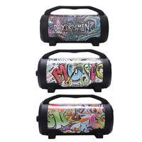 New Led Colorful Subwoofer Portable 5 Inch Barrel Bluetooth Audio Card Usb Speaker Portable Super Bass Loud Led Soundbar