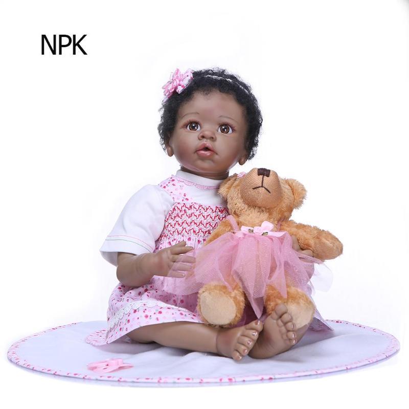 NPK Newborn Reborn Baby Dolls Silicone Cute Soft Simulation Doll Toy for Kids Gift Decors