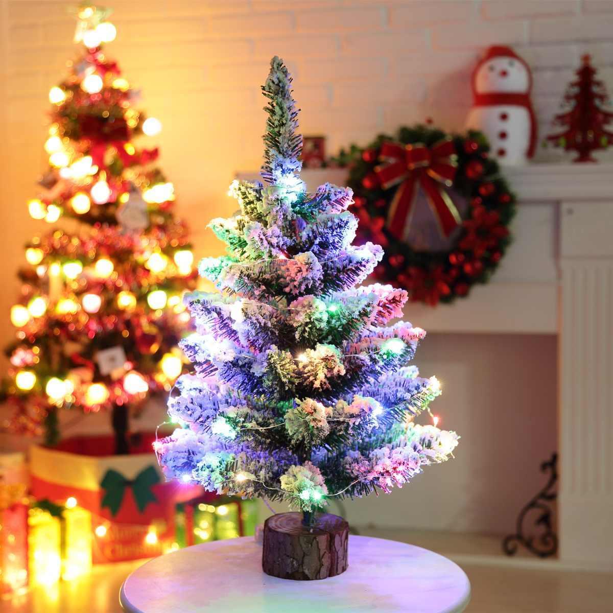 Светодиодный мини гирлянда для рождественской ёлки гирлянды ПВХ рабочего стола маленькое дерево стол украшения дома украшение для вечеринки; Рождество поставки 50 см