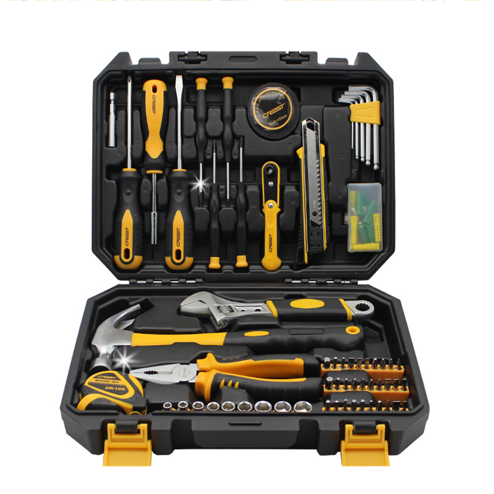 A Set of Household Repair Tools Auto Repair Ratchet Automatic Tool Key Ratchet Wrench Screwdriver Attachment 101 pieces of multifunctional screwdriver set ratchet sleeve combined computer maintenance tool