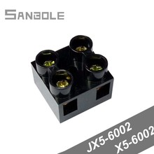 X5-6002 Terminal Block Fixed Type Black Base Connection Terminals Dual Row Connector Seat JX5 6002 with 4 screws 2P 60A (10PCS)