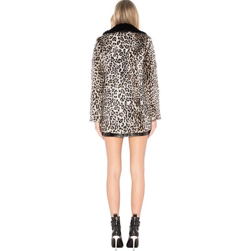 Impreso Mujeres Invierno De Chaqueta Leopardo Piel Abrigo Faux OOa4wrq0 4505c9059366