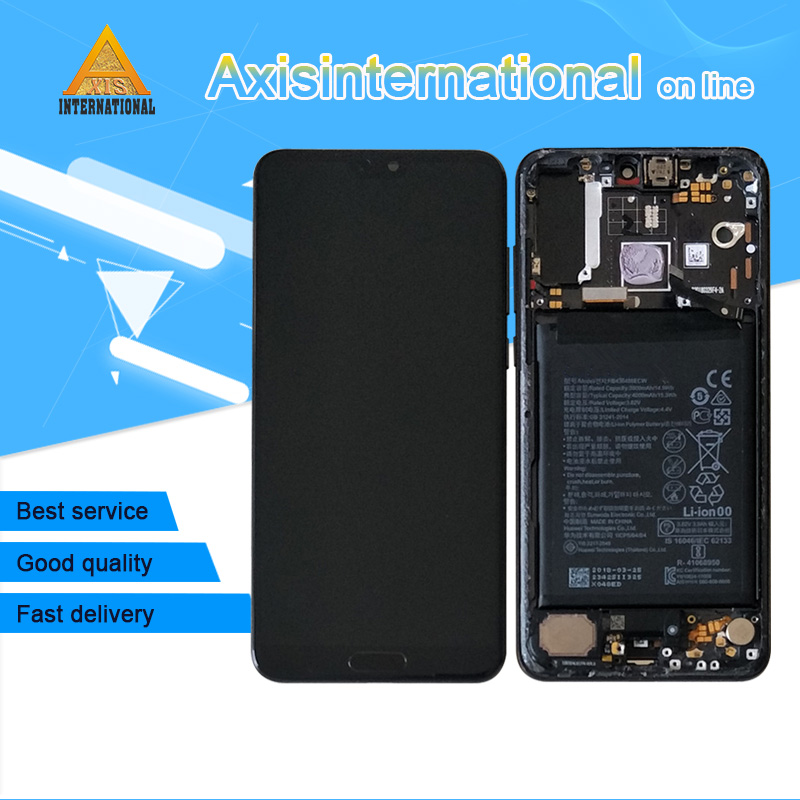Original Axisinternational Screen Frame For 6 1 Huawei P20 Pro LCD Screen Display Touch Panel Digitizer