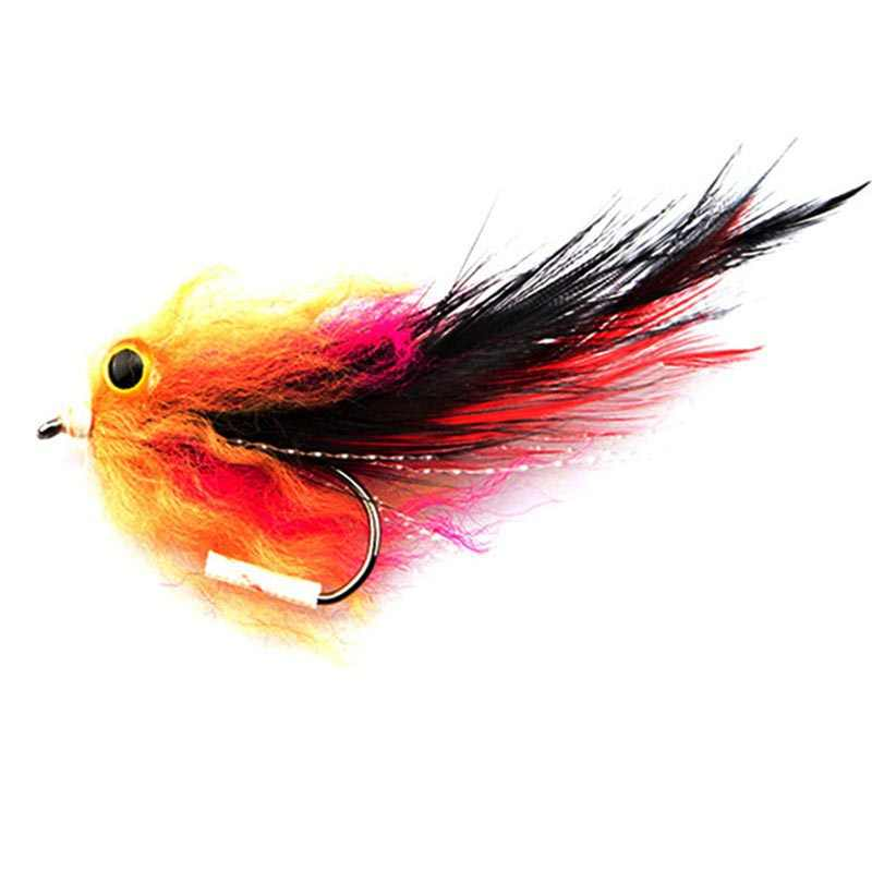 2Pcs Trout Salmon Steelhead Pike Fishing Streamer Flies Shad Insect Lures