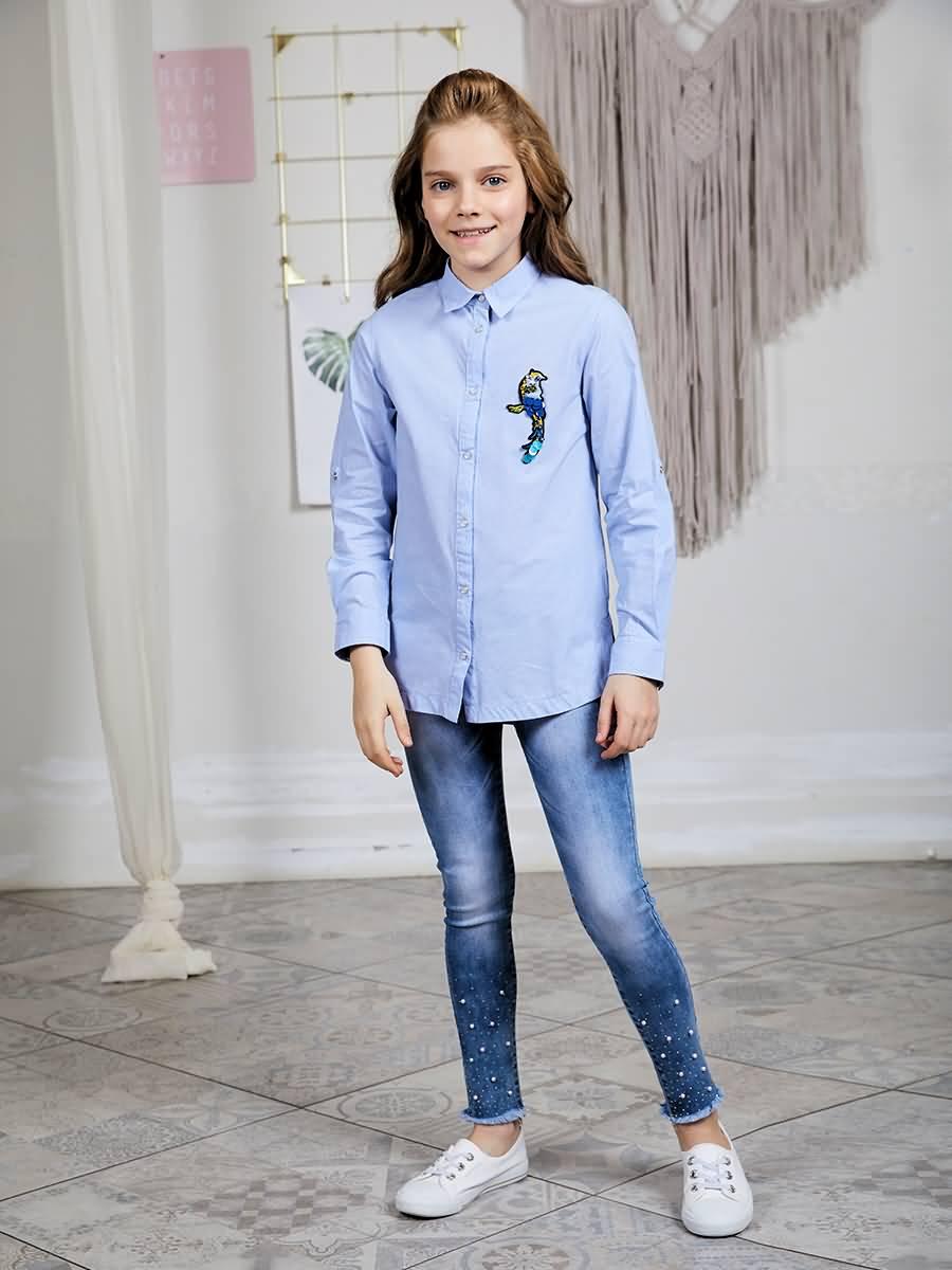 Jeans denim Luminoso for girls raw hem ripped denim jeans