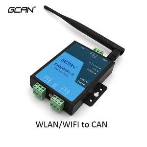 GCAN-211 canbus para wifi pode para wlan conversor adaptador gateway para can bus relé sem fio pode para wi fi repetidor de energia conversor