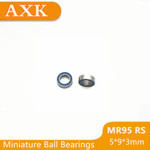 2019 Time-limited Mr95rs Bearing Abec-3 (10pcs) 5*9*3 Mm Miniature Mr95-2rs Ball Bearings Rs Mr95 2rs With Blue Sealed L-950dd 5316 2rs bearing 80 x 170 x 68 3 mm 1 pc axial double row angular contact 5316rs 3316 2rs 3056316 ball bearings