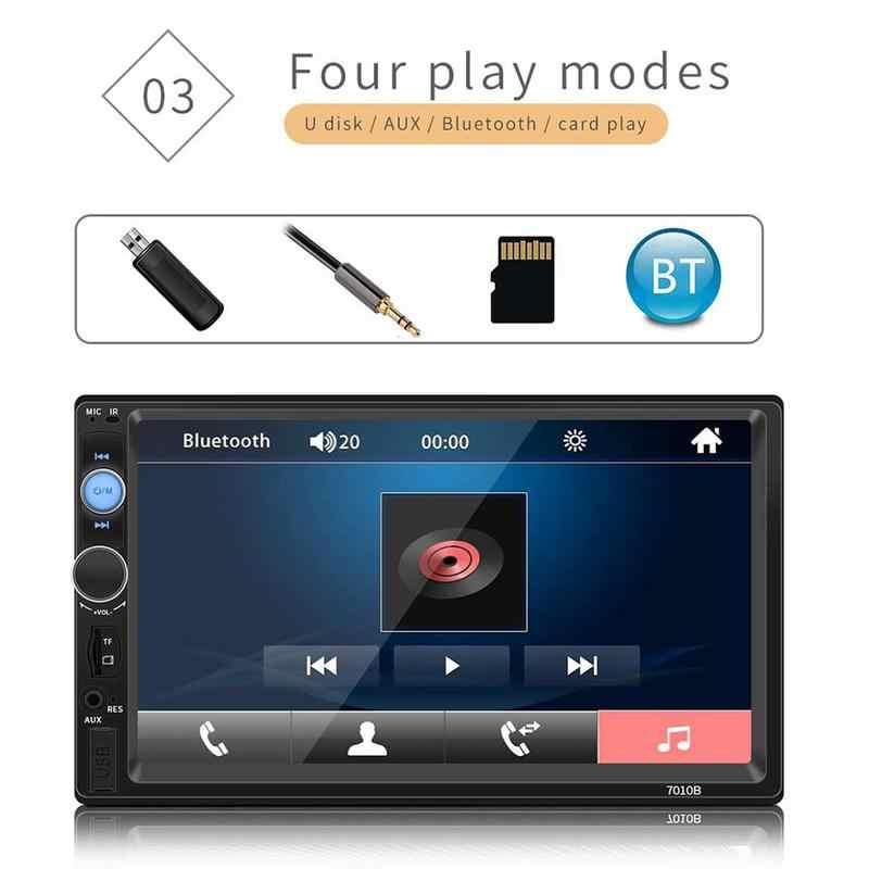 """7-дюймовый Bluetooth Сенсорный экран MP5 карточная машина 2 Din автомобильный стерео радио автомобильный Реверсивный монитор для 2 DIN 7 """"HD MP5 Прямая поставка 11,11"""