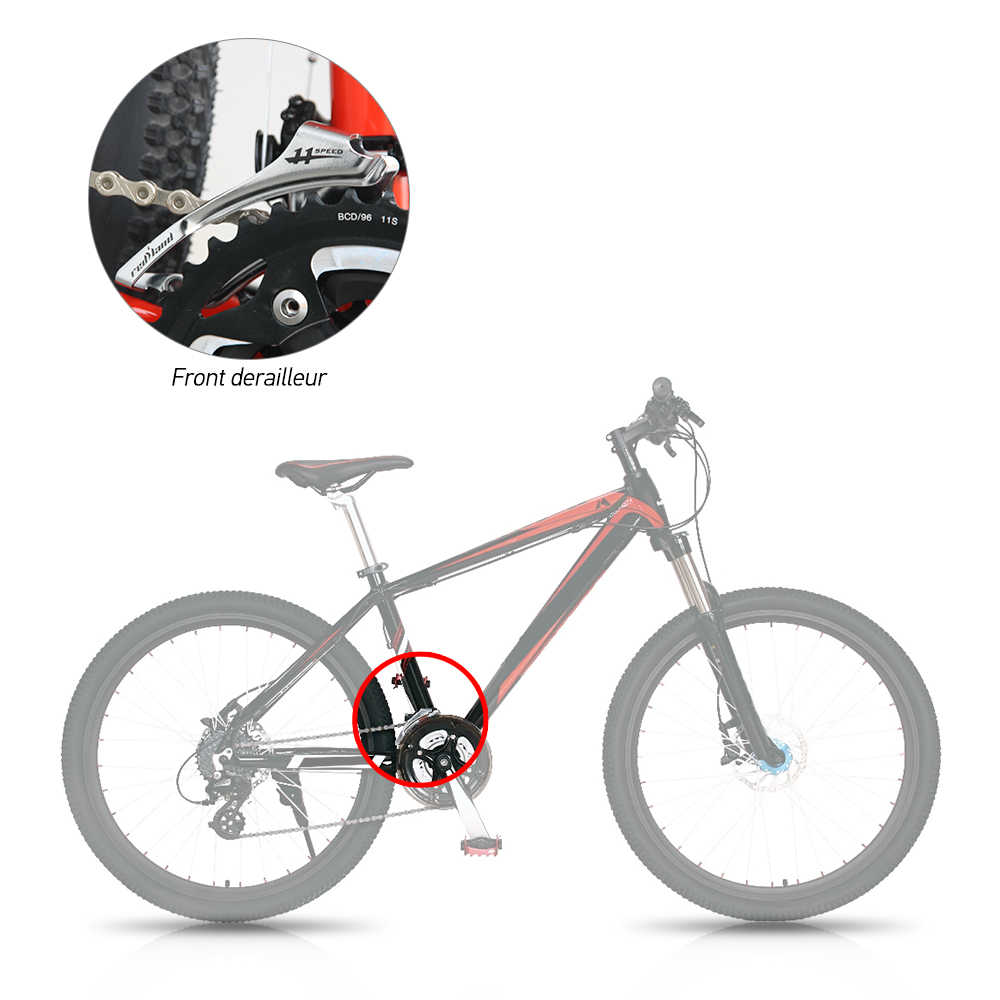 9S 10S 11S Передний переключатель переключения скоростей для велосипеда 31,8-34,9 мм рама MTB Горный Дорожный велосипед передний переключатель