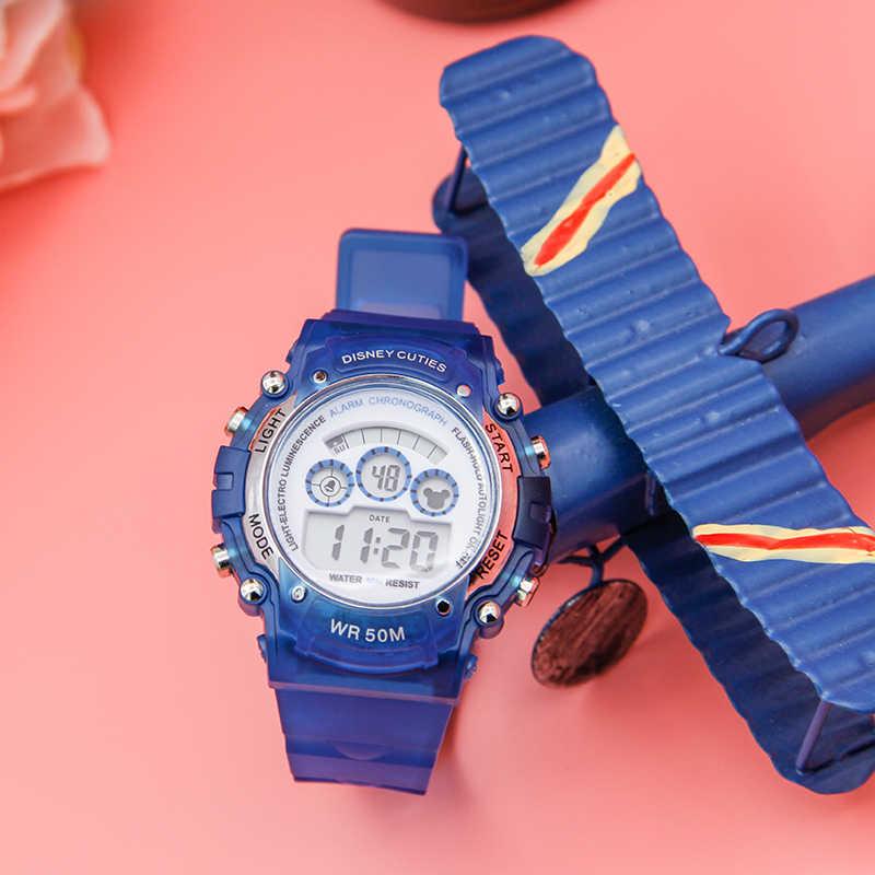 דיסני לילדים שעון ילדה בית הספר יסודי ספורט מעורר שעון אלקטרוני שעון עמיד למים לצפות