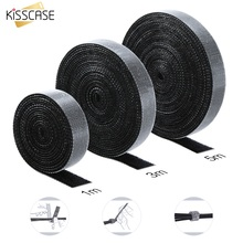KISSCASE Cable Winder Wire Organize Clip Earphone Wire Holder USB Cable Mouse Cable Protector For iPhone Samsung Management Cord 0 5m cable organizer wire winder clip earphone holder mouse cord protector cable management fit for iphone samsung usb cable