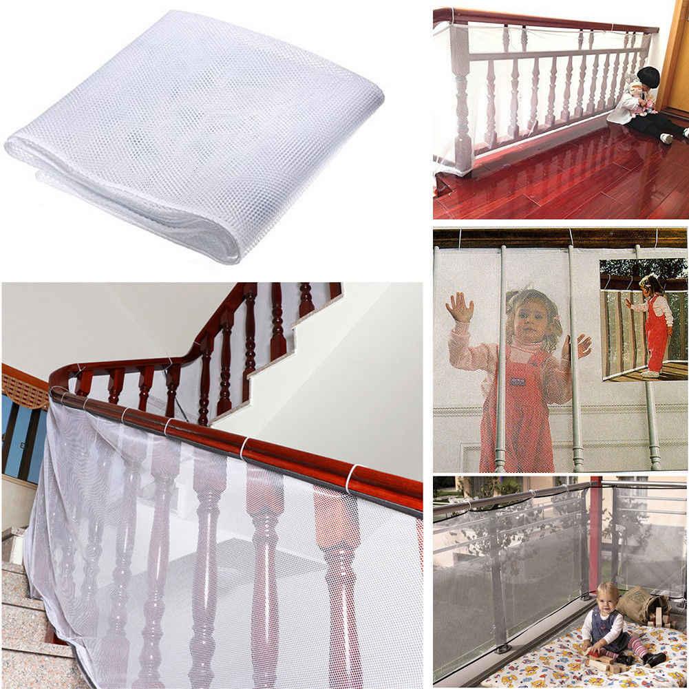 Red de seguridad para niños protección de mascotas bebé escalera balcón Puerta de perro malla estricta
