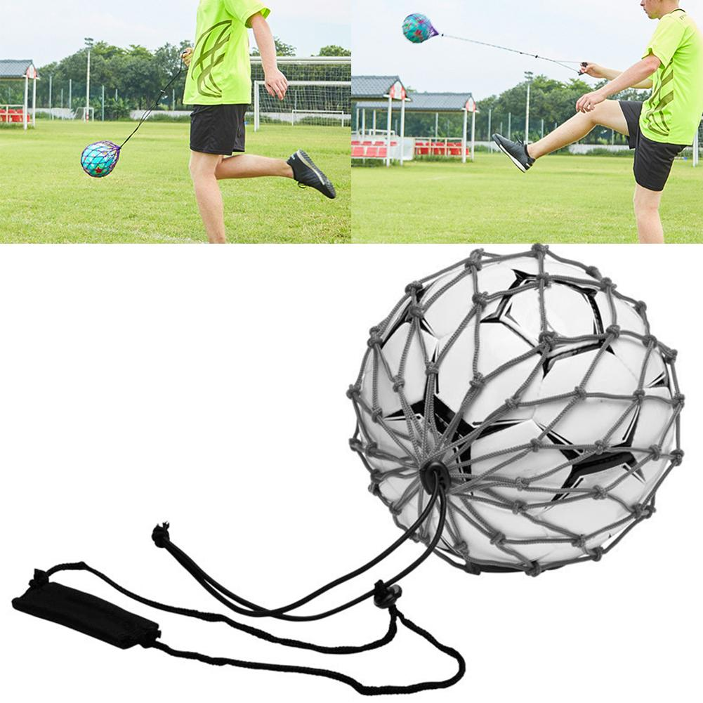 Football Kick Trainer Soccer Training Aid Net Mesh Bag For Kids And Adults Practice With Belt Elastic Rope For No.3 4 5 Ball