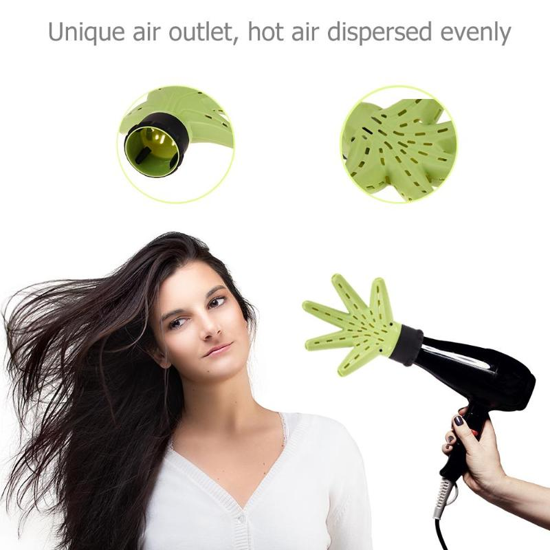 1pc Green Plastic Hand Shape Hair Dryer Diffuser Curly Hair Diffuser for Curly Salon Hairdressing For Beauty Barber Accessories