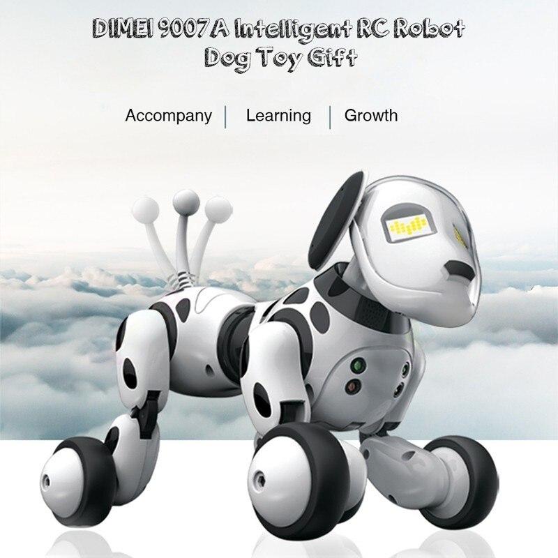 DIIGI 9007A 2.4G Sans Fil télécommande Robot Intelligent Chien Enfants Jouet Intelligent Parler Robot jouet pour chien animal de compagnie électronique cadeau d'anniversaire