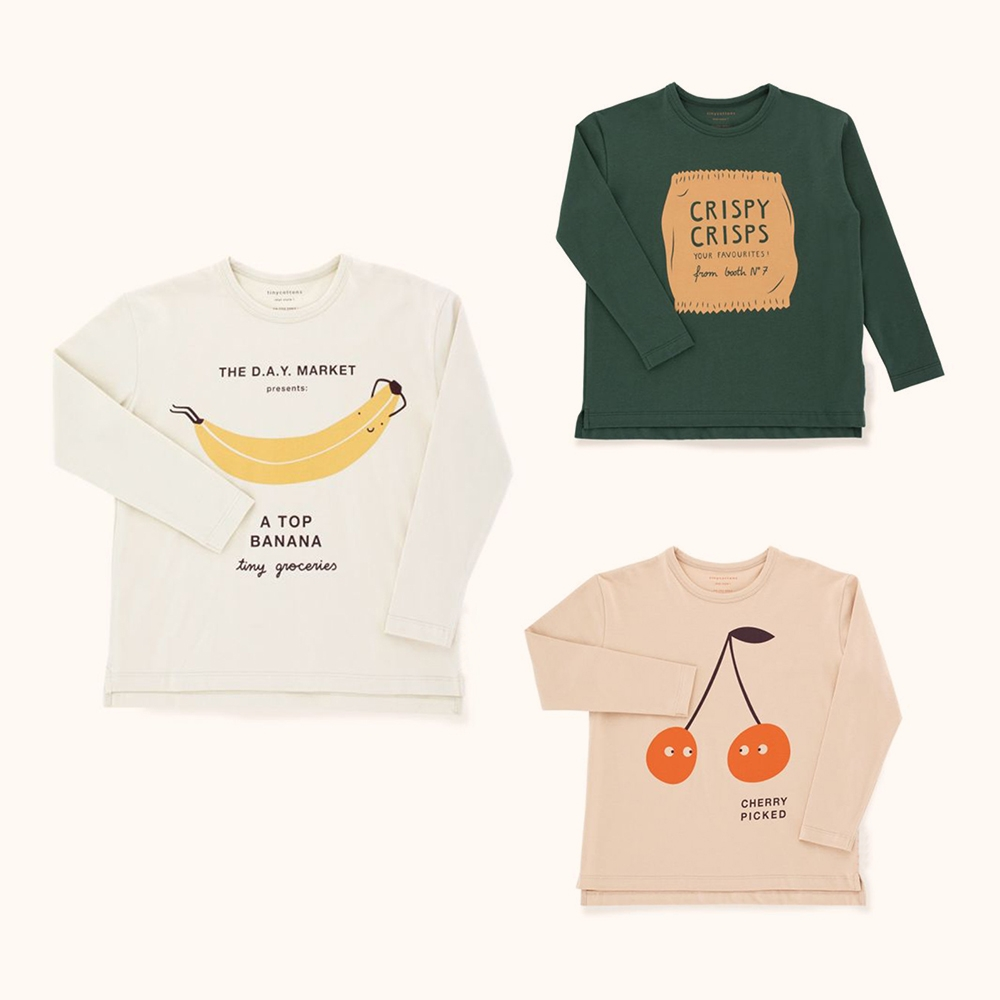 Kids Boy Tshirt Tiny Cottons 2018 Autumn Toddler Girls Print Tops Boys Long Sleeve Friendly Bag Graphic Cheap Tee Shirt Clothes maya 35351wht 974502
