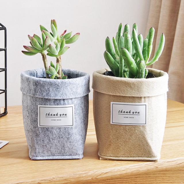 Plant Grow Bag New Home Decorations Desktop Flower Basket Fleshy Pot Thicken Garden Pot Garden Supplies Brand New Hot Sale