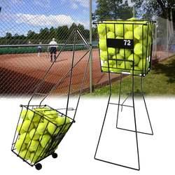 88 centimetri 72 Tramoggia Palle Da Tennis di Sport Pick Up Cestino Portatile Del Basamento Rack di Stoccaggio Dell'organizzatore Del Supporto Attrezzature Da Tennis Accessori
