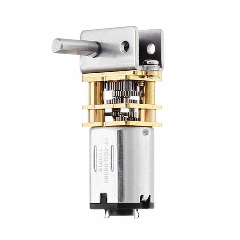 1 шт. с источником питания от постоянного тока, 6 V 18 об/мин червь редукторный двигатель коробка червячный редуктор электродвигатель прочный