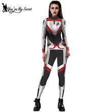 [You're My Secret] Модные вечерние костюмы на Хэллоуин с 3D принтом, женские боди, эластичные тканевые Комбинезоны для косплея