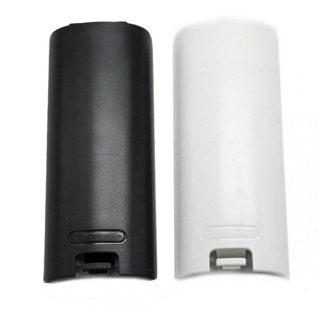 2pcs Black And White Replacement Battery Back Door Cover Shell For Nintendo Wii Remote Controller