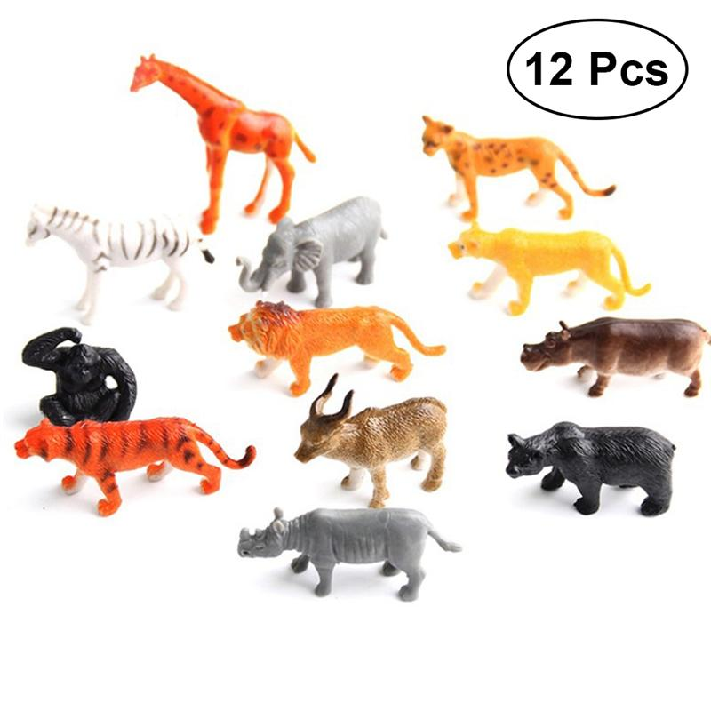 Model Fun Toys Animal-Figure Party-Favors Plastic Simulation-Realistic Kids for Toddler