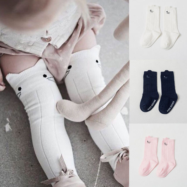 76c44e571ed Cute Toddler Baby Girls Boy Cartoon Cotton Short Socks Pantyhose Newborn Kids  Infant Knee High Leg Warmers Thermal Sokken Socks