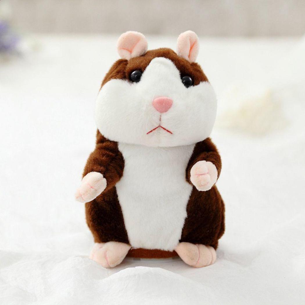 Registro Kawaii peluche hablando de hablar juguetes hámster sonido forma ToysLovely Hamster de peluche repetir de hablar de animales