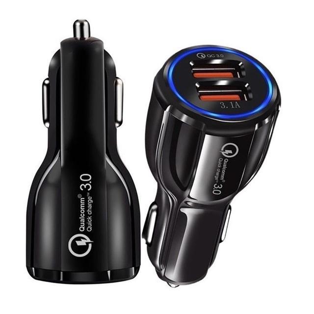 QC3.0 Сертифицированный быстрый заряд двойной 2 USB порт быстрое автомобильное зарядное устройство 36 Вт аксессуар для мобильного телефона