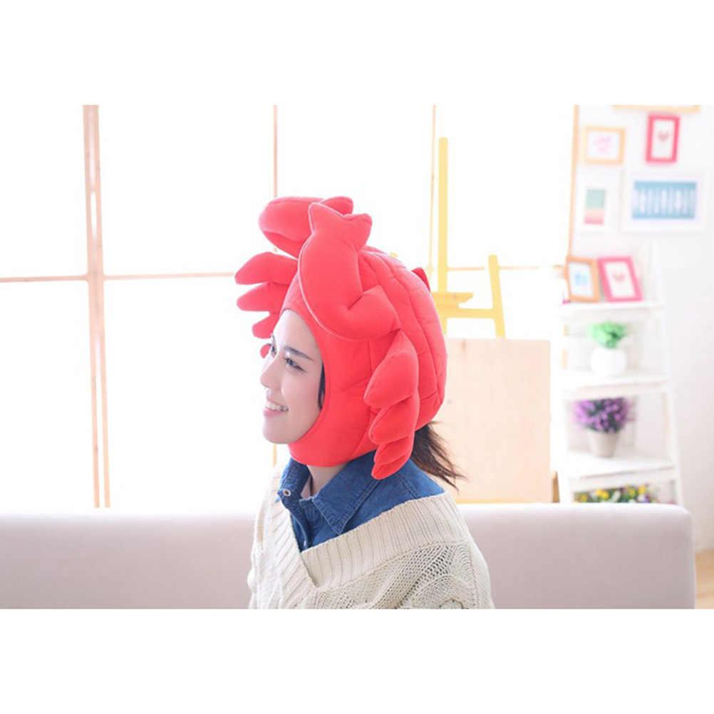 1 pc kraba nakrycia głowy regulowany Cosplay śmieszne słodkie kapelusz kreskówka czapka akcesoria do kostiumów zdjęcie rekwizyty dla dzieci dorośli