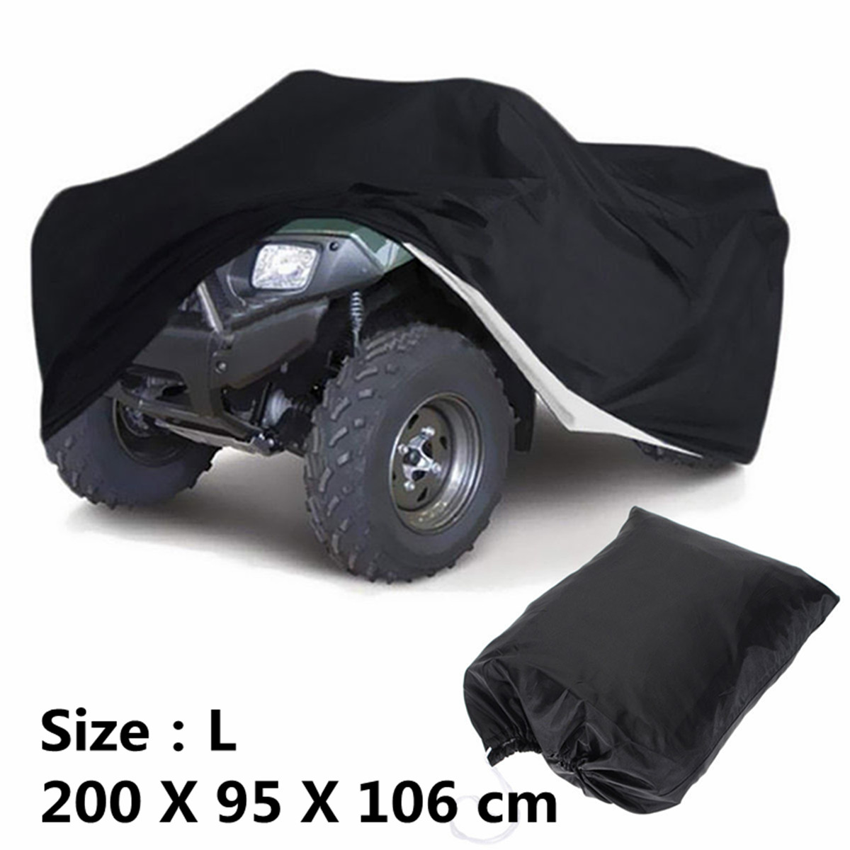 Tamaños L XXL XXXL negro Universal motocicleta Quad Bike ATV ATC cubierta bolsa de almacenamiento impermeable