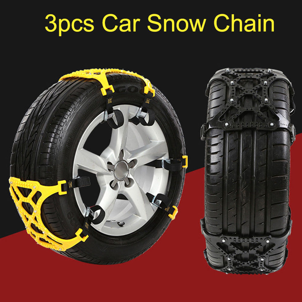 3Pcs Lot Car Universal TPU Winter Tyres Wheels Snow Chains For Cars Suv Car Styling Anti Skid Autocross Outdoor in Snow Chains from Automobiles Motorcycles