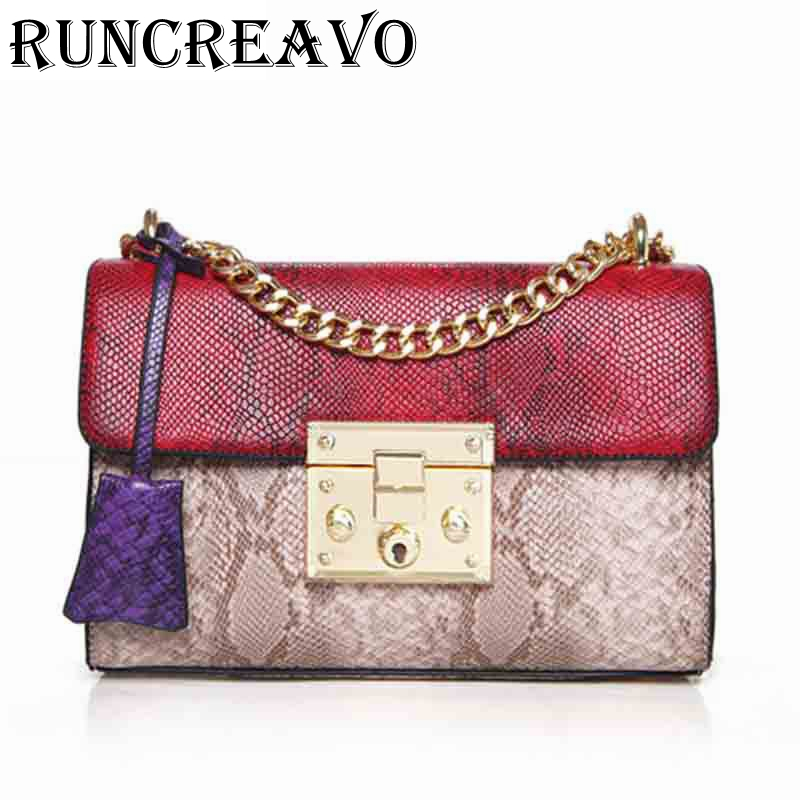 2019 Luxury Handbags Women Bags Designer Serpentine Crossbody Bags For Women Famous Brands Messenger Bag Female Sac A Main Femme