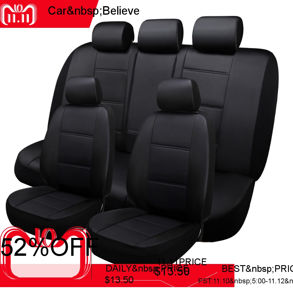 Car Believe Seat Cover For Nissan Qashqai J10 Almera N16 Note X Trail T31 Patrol Y61 Juke Covers Vehicle Seats