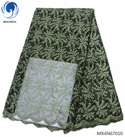 Beautifical african lace material nigerian lace fabric 2018 african high quality lace fabric embroidery design on sale MX4N670