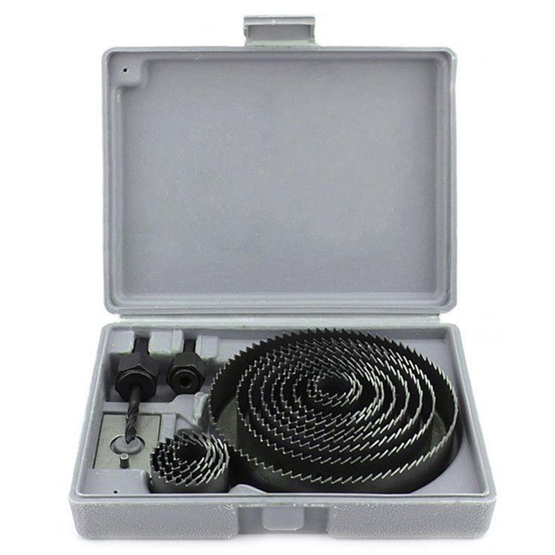 16Pcs/Set Carbide Drill Bits Wood Drills Tapper Hole Saw Set Holing Tools For Woodworking