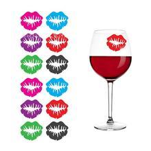 6 шт силиконовый красный маркер на стакан для вина маркер напитков креативные Губы Форма стекло идентификационный маркер(смешанный