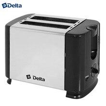 Тостер DELTA DL-61 черный нержавеющий : 700Вт, 2ломтика, 6-ти позиционный таймер