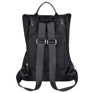 Image 4 - Coofit 디자이너 여자 브랜드 배낭 패션 나일론 방수 안티 절도 여자 가방 mochila escolar 학교 배낭
