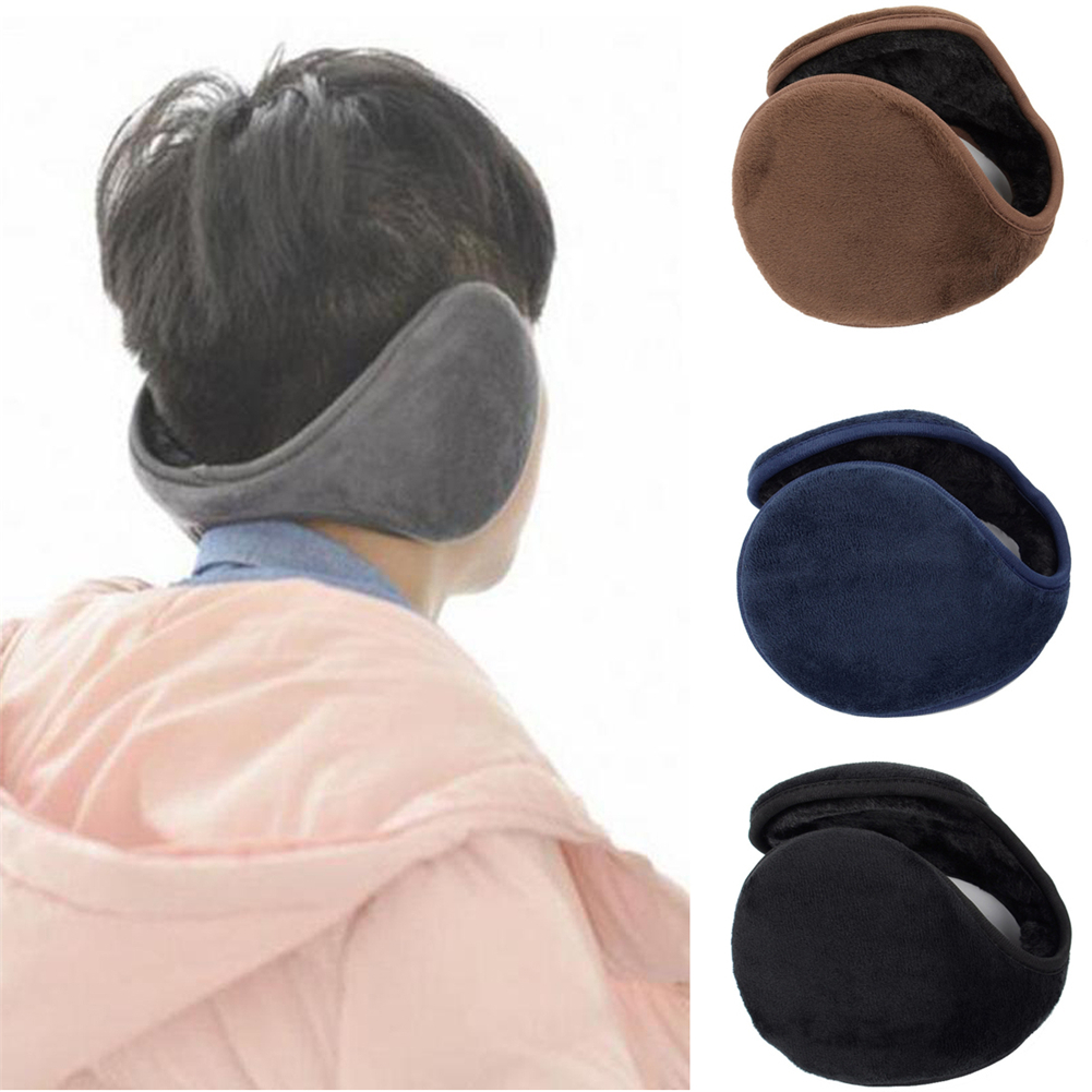 Men Women Winter Warm Ear Warmer Faux Fur Thicken Earmuff Soft Casual Plush Earflap Solid Velvet Black Gary Snow Wean Earmuffs