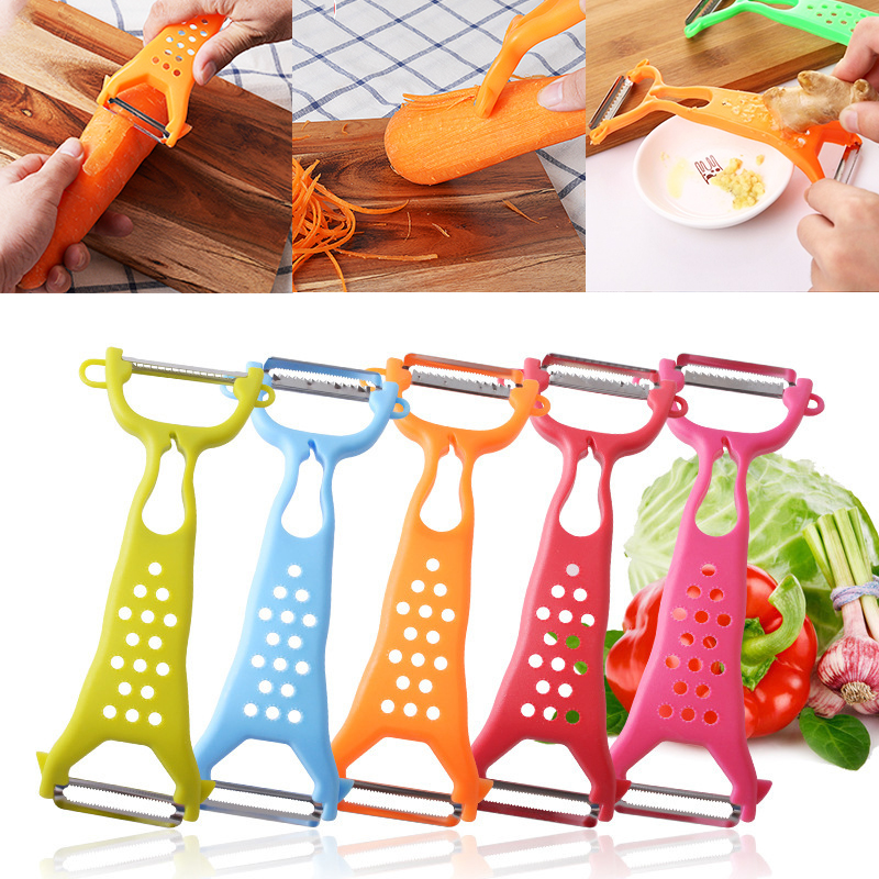 New 1 Piece Multi-function Grater Apple Peeler Apple  Kitchen Vegetable Carrot Gadgets Fruit Paring Knife Double Head